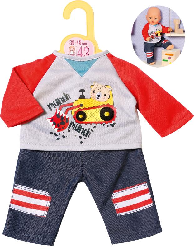 zapf-creation-dolly-moda-hose-mit-sweatshirt-39-46-cm-blau-rot-kinderspielzeug-