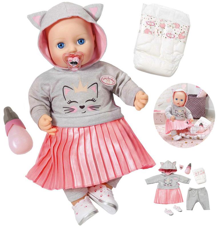 zapf-creation-baby-annabell-puppe-katzenberger-edition-43-cm-kinderspielzeug-