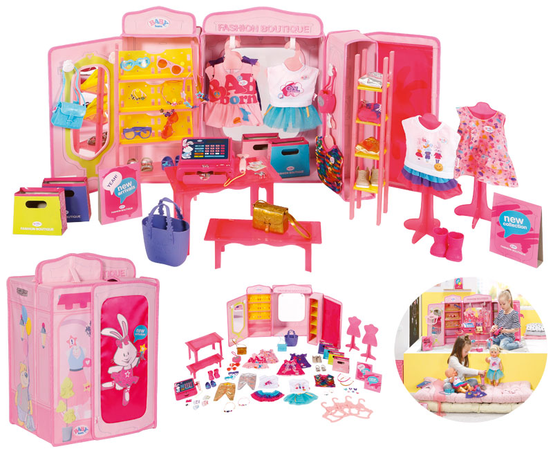 Babypuppen & Zubehör Zapf BABY born® Boutique Deluxe Shopping Kleider