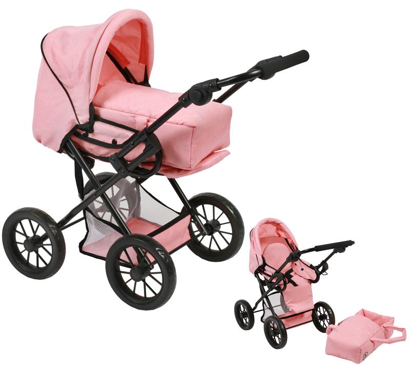 bayer-chic-2000-puppenwagen-leni-melange-apricot-kinderspielzeug-